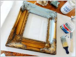 Picture frame beautiful done with Chalk Paint decorative paint by Annie  Sloan