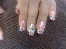 Fancy Beaded and Stoned Nail Art for Brides - Womenitems.Com