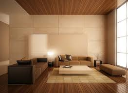 Contemporary Wooden Ceiling Design Living Room