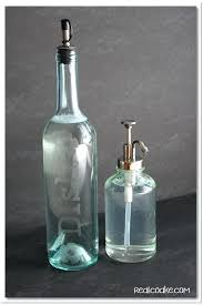 glass hand soap dispenser etched wine bottle dish soap dispenser hand blown glass soap dispenser