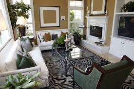 gallery cozy furniture store. living room design with two white sofas taupe walls and zebra area rug gallery cozy furniture store