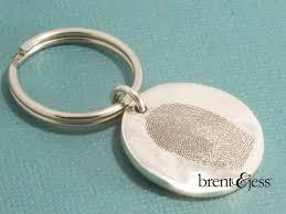 handmade sterling silver fingerprint keychain