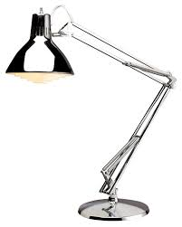 chrome adjule luxo lamp with powder coated arm and external springs