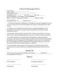 Photography Contract Template Basic Wedding Photography Contracts Photography Contract Template 1