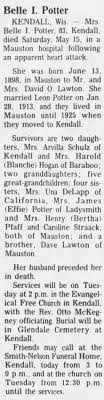 Obituary for Belle I. Potter (Aged 83) - Newspapers.com