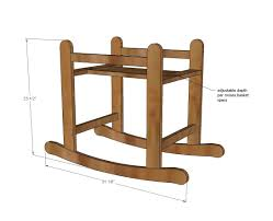 Ana White Build a Rocking Moses Basket Stand
