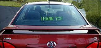 Thank You And Sorry Signs For Your Car Help Alleviate