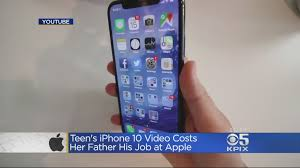 apple iphone 10. daughter\u0027s iphone x video gets dad fired from apple iphone 10 w