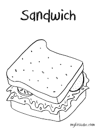 Small Picture Sandwich Coloring Page My First ABC
