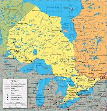 Lake Ontario Chart Ontario Map Satellite Image Roads Lakes Rivers Cities