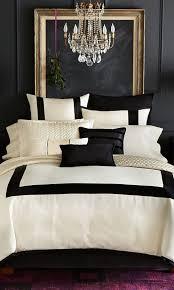 cream and black duvet cover