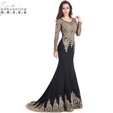 <b>Robe de Soiree</b> Longue <b>Real</b> Kaftan Dubai Black Long Sleeve ...
