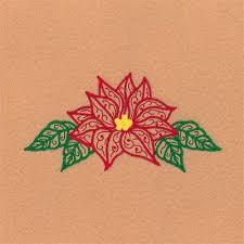 Poinsettia Designs Filigree Poinsettia Embroidery Design