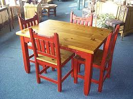 southwest style furniture. Southwest Dinette Set New Mexico Golden Oak And Red On Style Furniture