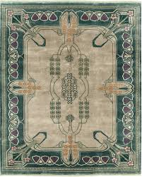 the canterbury an art nouveau donnegal a balsam green border with craftsman style rugs