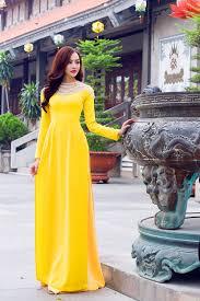 Image result for áo dài vàng