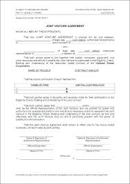 Joint Venture Agreement Template Free Sample Fascinating