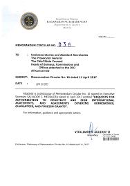 Subject: Memorandum Circular No. 16 Dated 11 April 2017 Attached Is ...
