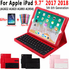 Removable Wireless <b>Bluetooth Keyboard Leather Case</b> for Apple ...
