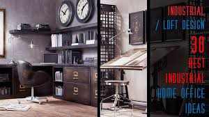Industrial home office Library loft industrial designinterior Youtube 30 Best Industrial Home Office Ideas Youtube
