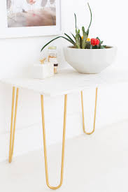 diy marble table top and gold side table sugar and cloth home decor ideas