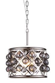 madison 3 light polished nickel pendant