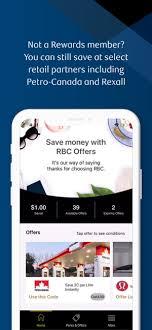 rbc rewards on the app