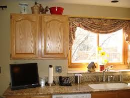 Modern Curtains For Kitchen Kitchen Beautiful Abstract Fabric Kitchen Curtain Design With L