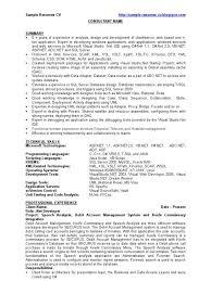 Asp Net Resume Example Professional Resume Templates