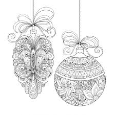 Small Picture Coloring Pages Round Christmas Ornament Coloring Page Free