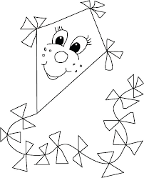 Kite Coloring Page Kite Coloring Pages For Toddlers Large Kite