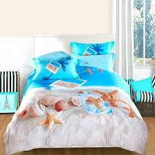 sea life bedding ocean blue beige and brown seashell and starfish print marine life sea life sea life bedding