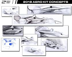 2018 honda indycar. perfect indycar 2018 universal aero kit concept sketches with honda indycar