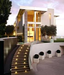 exterior staircase design exterior design with modern outdoor staircase and  used modern lighting design ideas exterior