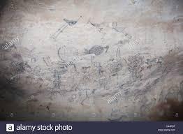 pre columbian rock paintings inside la linea limestone cave los haitises national park
