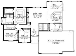 3 car garage floor plans inspirational ranch house plan draw your with tandem