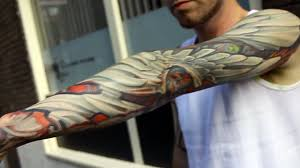Lux Altera Tattoos The Wing Full Sleeve