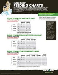Heavy 16 Nutrients Feeding Chart Earth Juice Support Materials