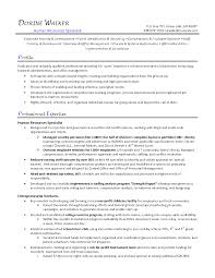Human Resource Resume Samples Examples Resources 2015 Objective