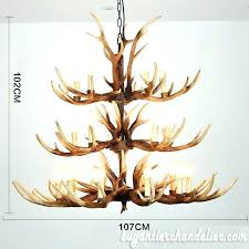 chandeliers real antler chandelier light fixtures best cast elk 3 tiers candelabra cascade rustic home
