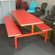 picnic office design. Red Picnic Table Office Design
