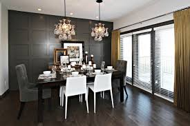 wainscoting dining room. Gray And White Dining Room With Wainscoting