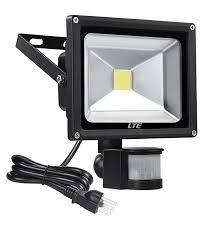 20w led motion sensor floodlight outdoor plug in security flood lights 1600 lumens waterproof ip65 cool white 6000k