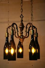 recyclart org recycled antique chandelier using wine bottles