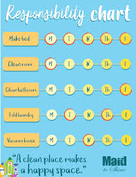 Bathroom Chart For Kids Responsibility Chart For Kids Maid To Shine Your Best
