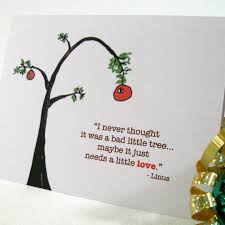 Charlie Brown Christmas Quotes Magnificent Holiday Card Christmas Card Charlie Brown Tree Greeting Card