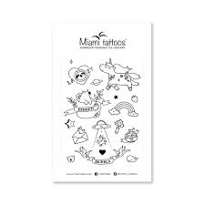 черные переводные тату Miami Tattoos Animals