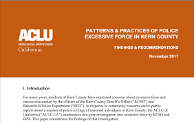 Aclu County And Excessive In Kern Practices Force California Of Police Southern Patterns