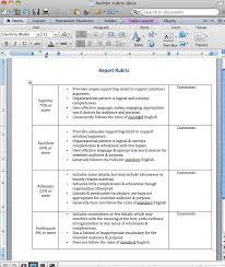 Rubric Template Microsoft Word Creating A Rubric Instructional Design California State