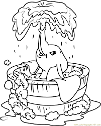 Small Picture Dumbo Bath Coloring Page Free Dumbo Coloring Pages